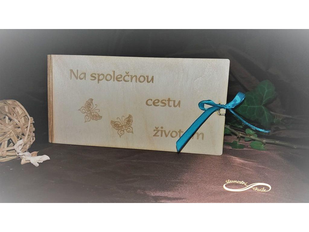 Krabička na peníze s motivem motýlků
