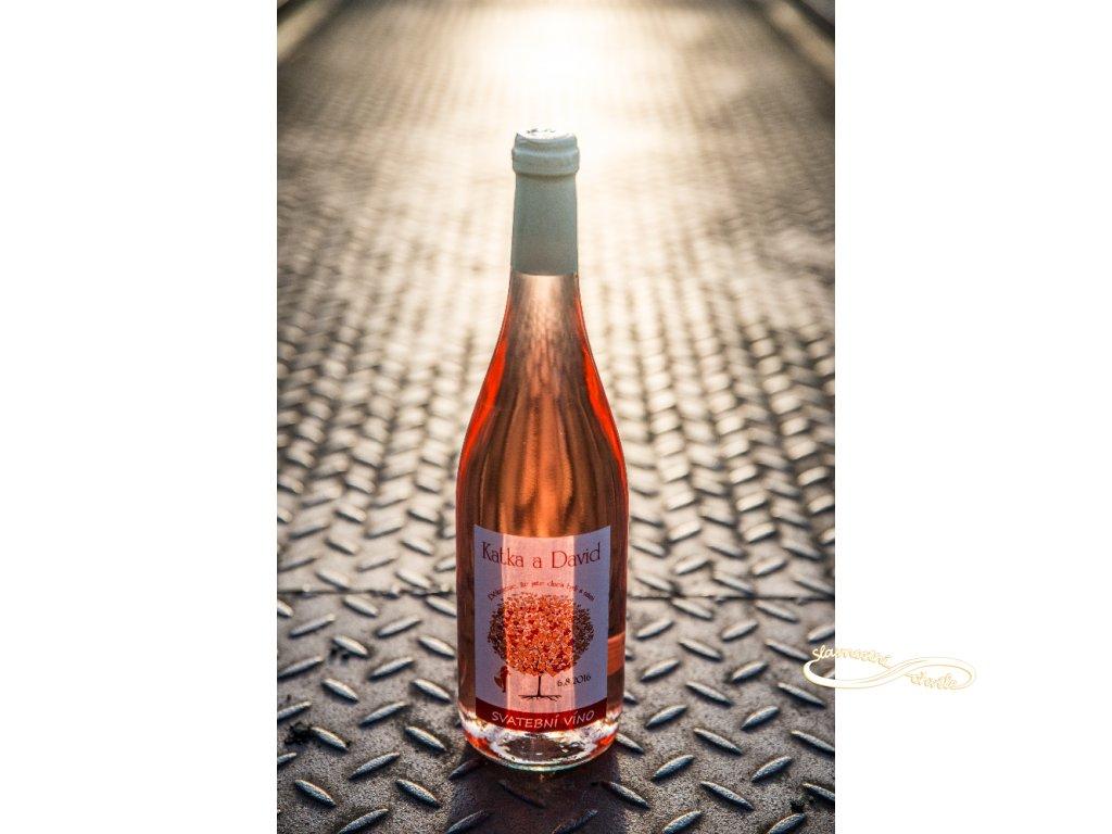 Svatební víno Cabernet Moravia Rosé