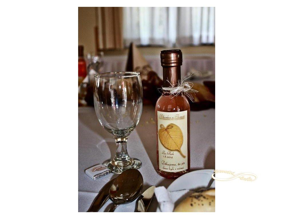 Minivíno odrůdy Cabernet Moravia Rose