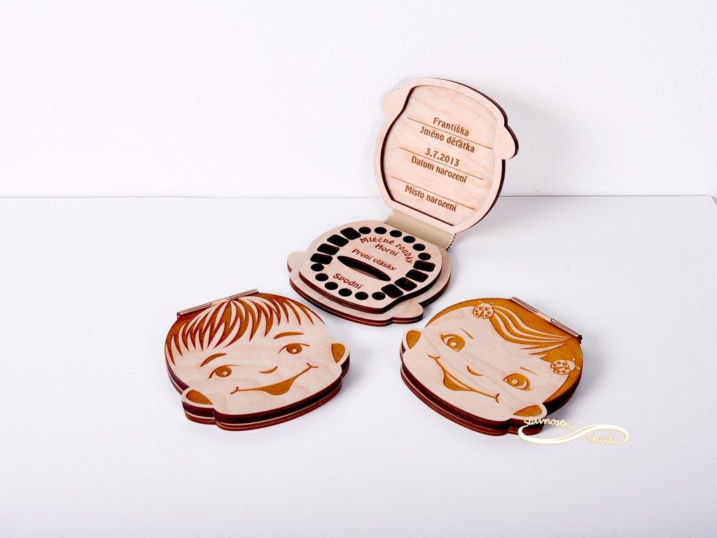 Zoubková víla - krabička na dětské mléčné zoubky