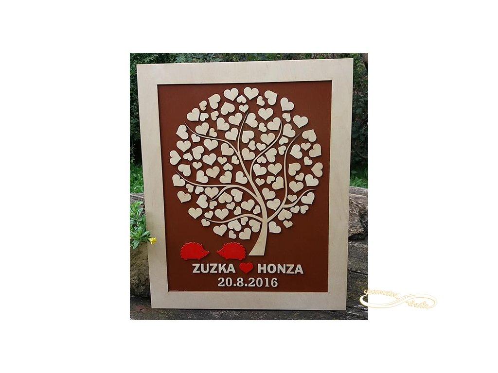 Obraz - Svatební strom s ježky