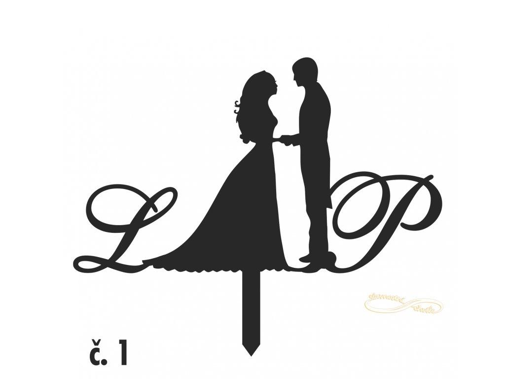dortová ozdoba nevěsta a ženich