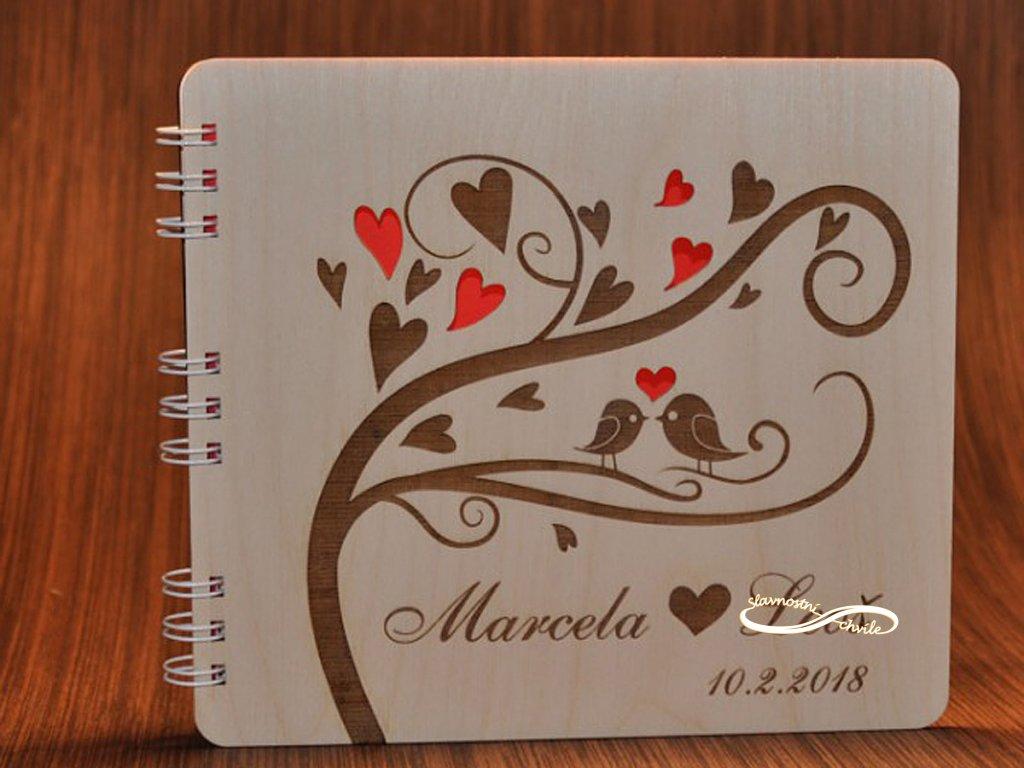 svatební strom formou knihy hostů