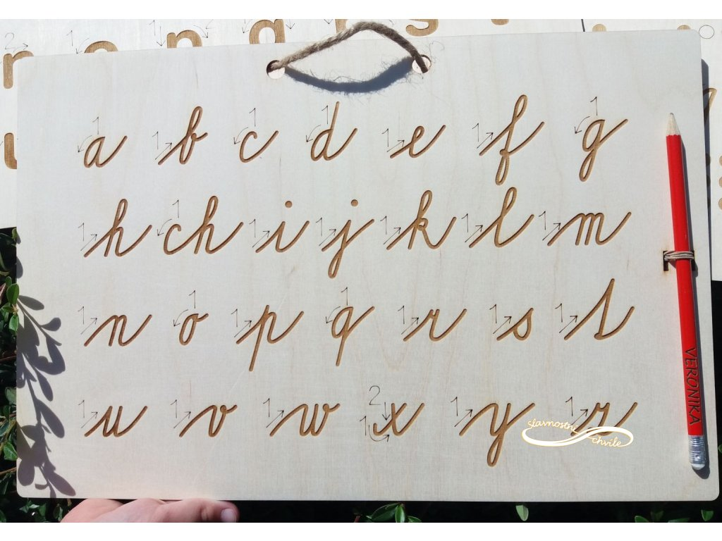 Tabulka pro nácvik psaní malých písmen