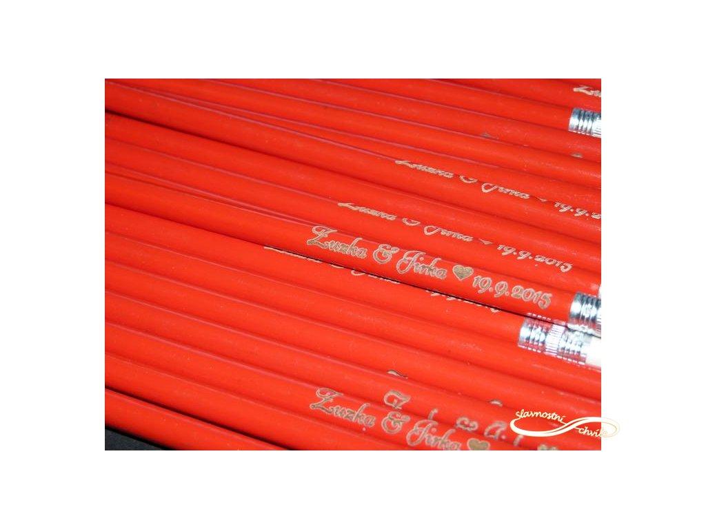 svatební tužky jako dárek pro svatebčany