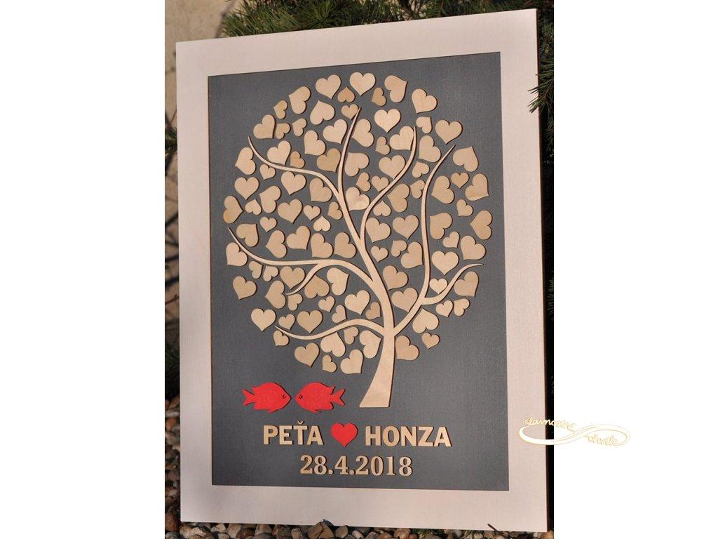 Svatební kniha hostů - Strom lásky