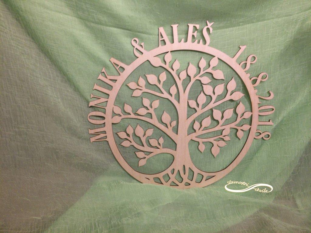 Dřevěná dekorace - strom života