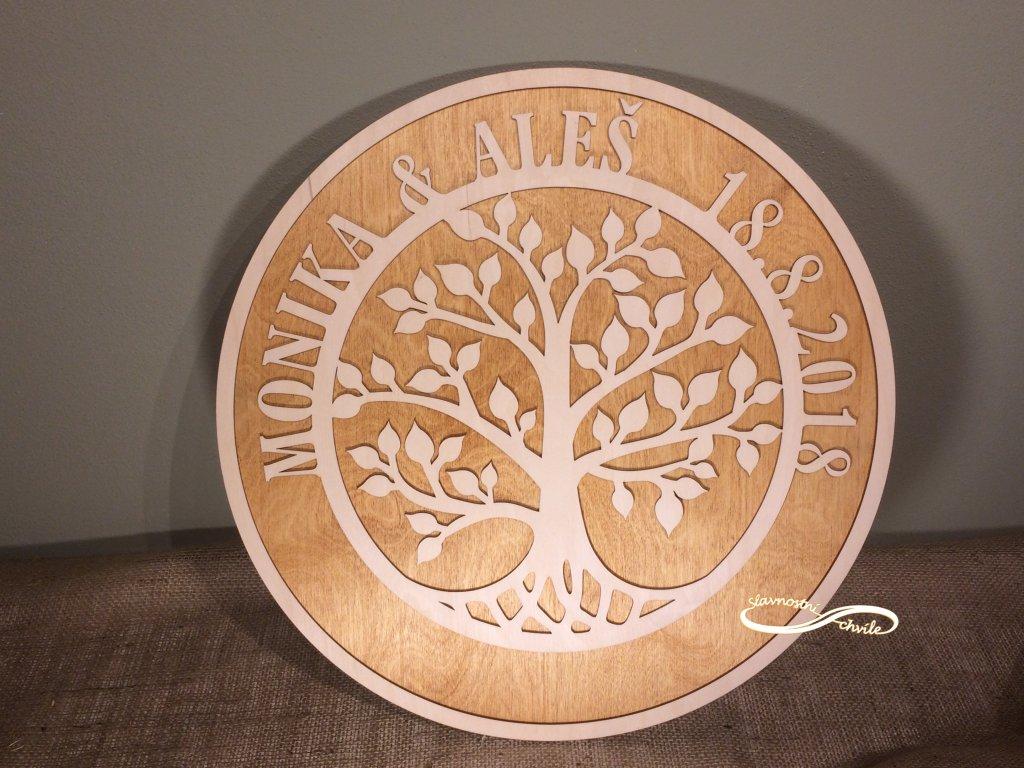Strom života s lístky pro podpisy Slavnostní chvíle