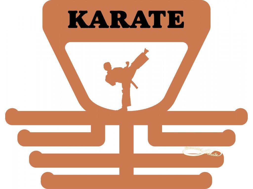 věšák na medaile karate