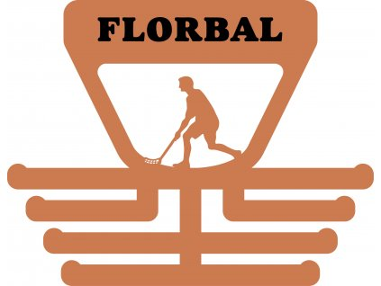 věšák na medaile florbal muž
