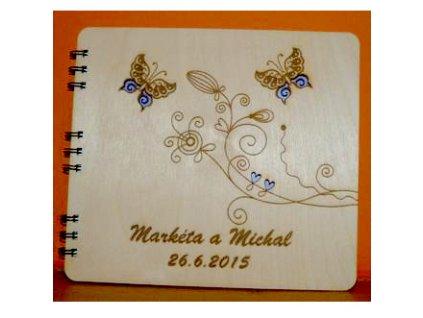 Fotoalbum s motýlkami