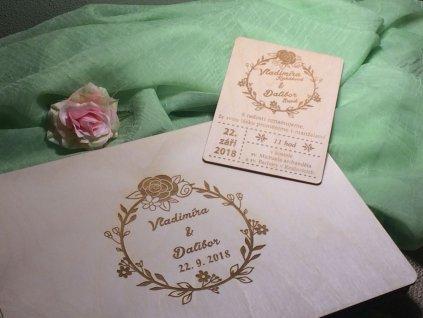 Dřevěná svatební kniha v rustikálním stylu