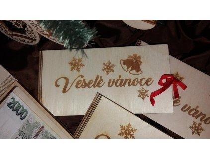 Dřevěná krabička pro darování peněz s motivem zvonky