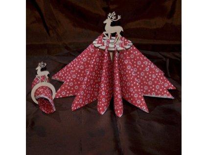 Držák ubrousků s jelínkem - Dekorace na vánoční stůl