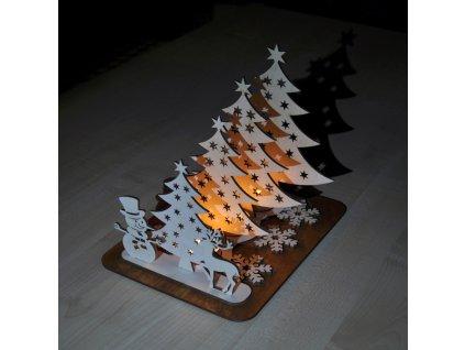 Dřevěný vánoční svícen