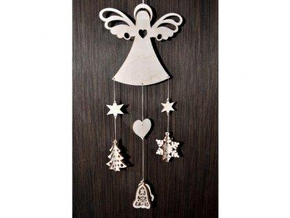 Vánoční závěs - dřevěný