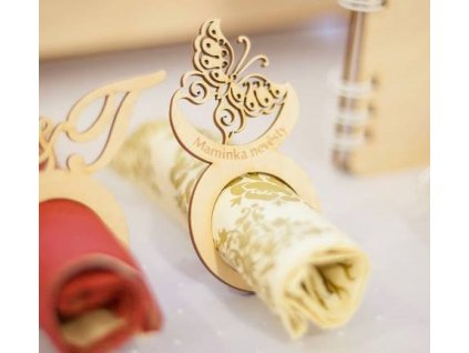 Jmenovka  - dekorace na ubrousky