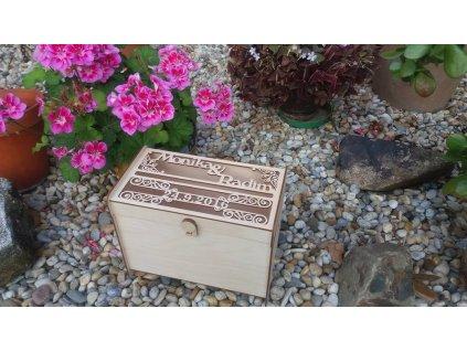 Dřevěná truhlice na přáníčka