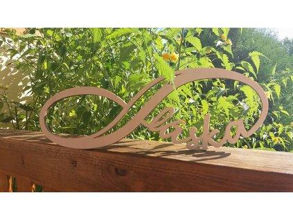 Dřevěná dekorace Infinity
