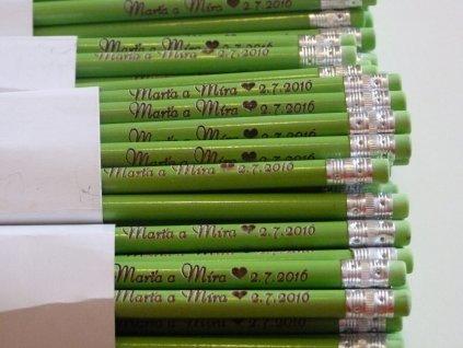 svatební tužky zelené