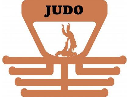 věšák na medaile judo