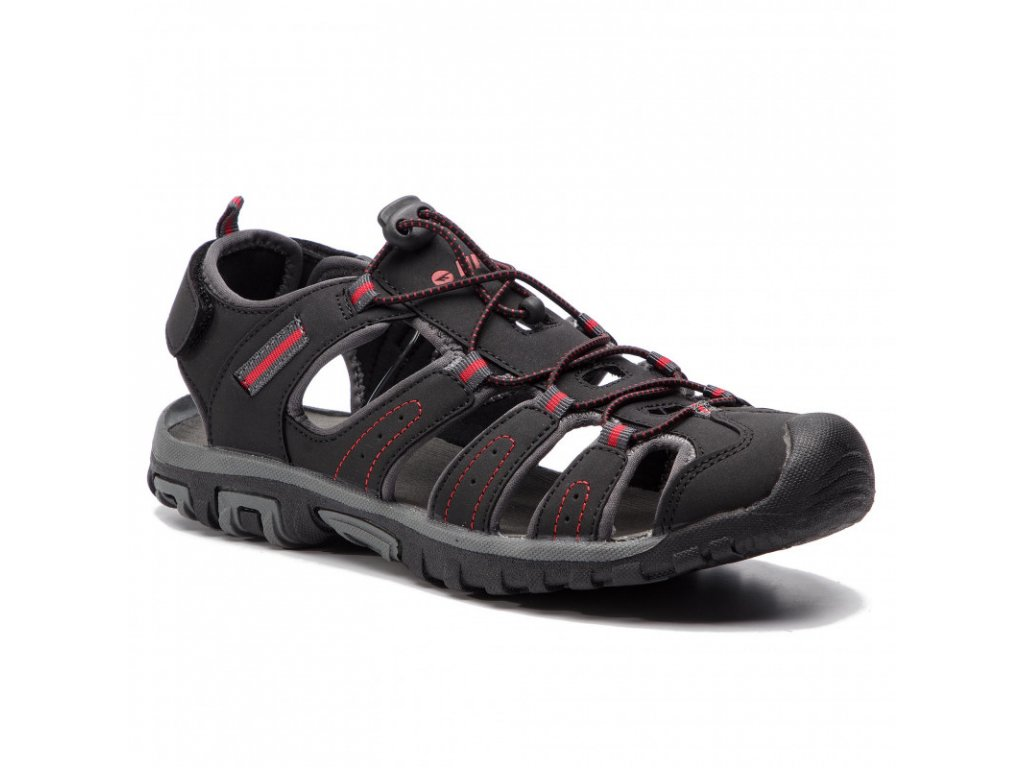 Pánské sandále HI-TEC Tiore - black/dark grey/red