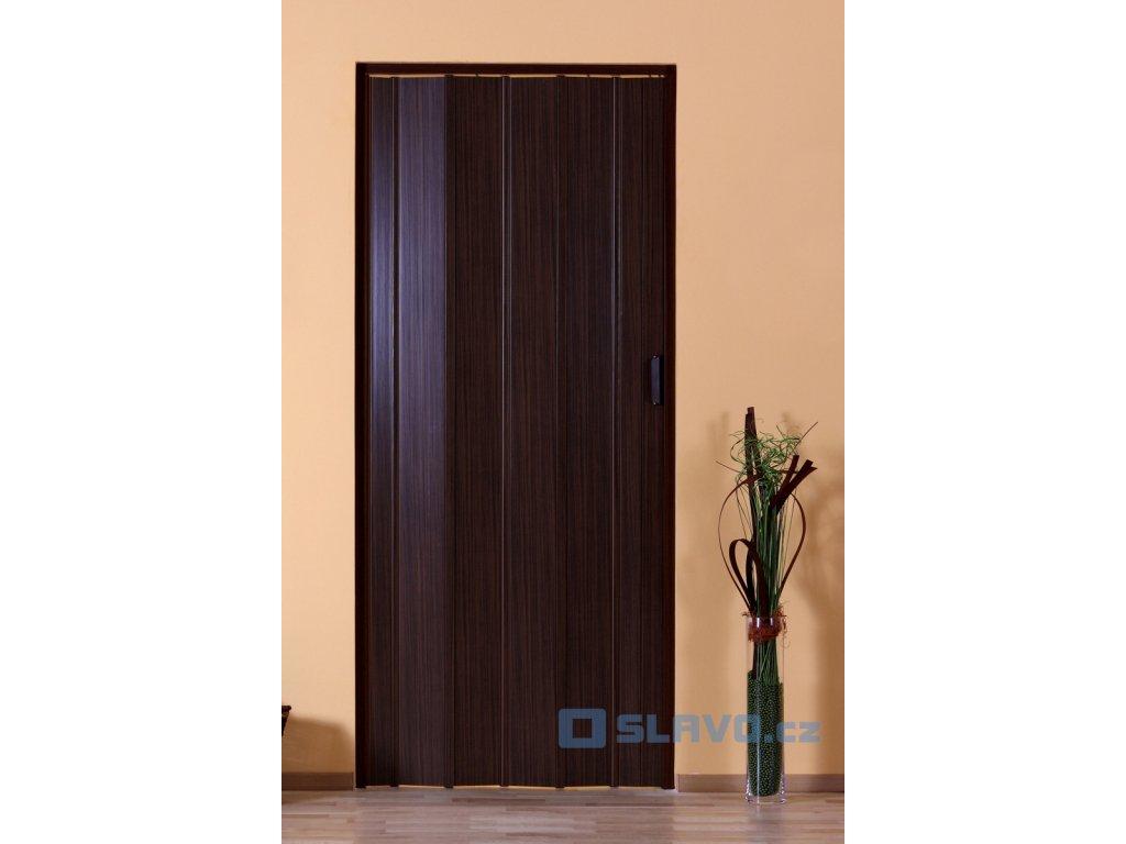 Shrnovací dveře HOPA Luciana - ořech 08