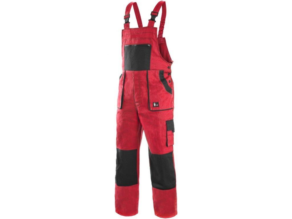 Pracovní kalhoty CXS Luxy Robin - červená/černá