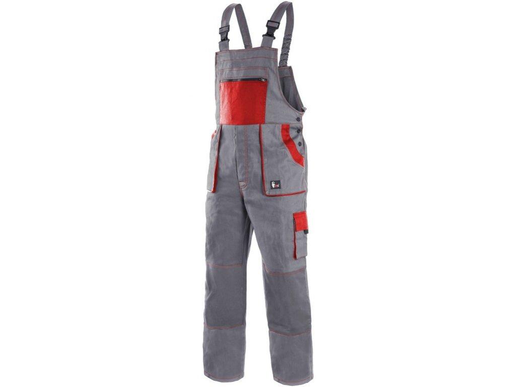 Pracovní kalhoty CXS Luxy Robin - šedá/červená
