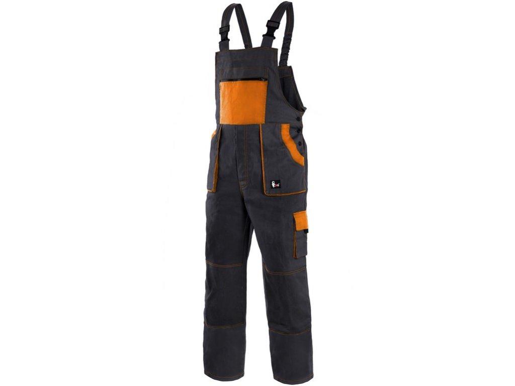 Pracovní kalhoty CXS Luxy Robin - černá/oranžová