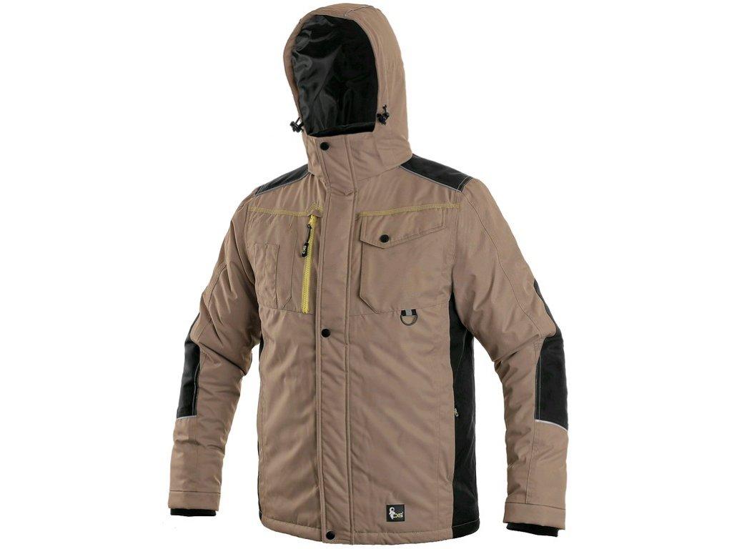 Pracovní bunda CXS Baltimore - béžová/černá