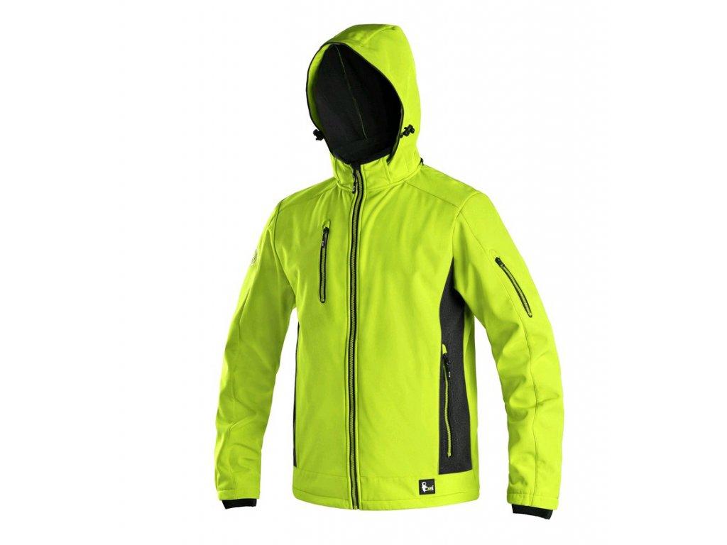 Pánská softshellová bunda CXS Durham - žlutá/černá