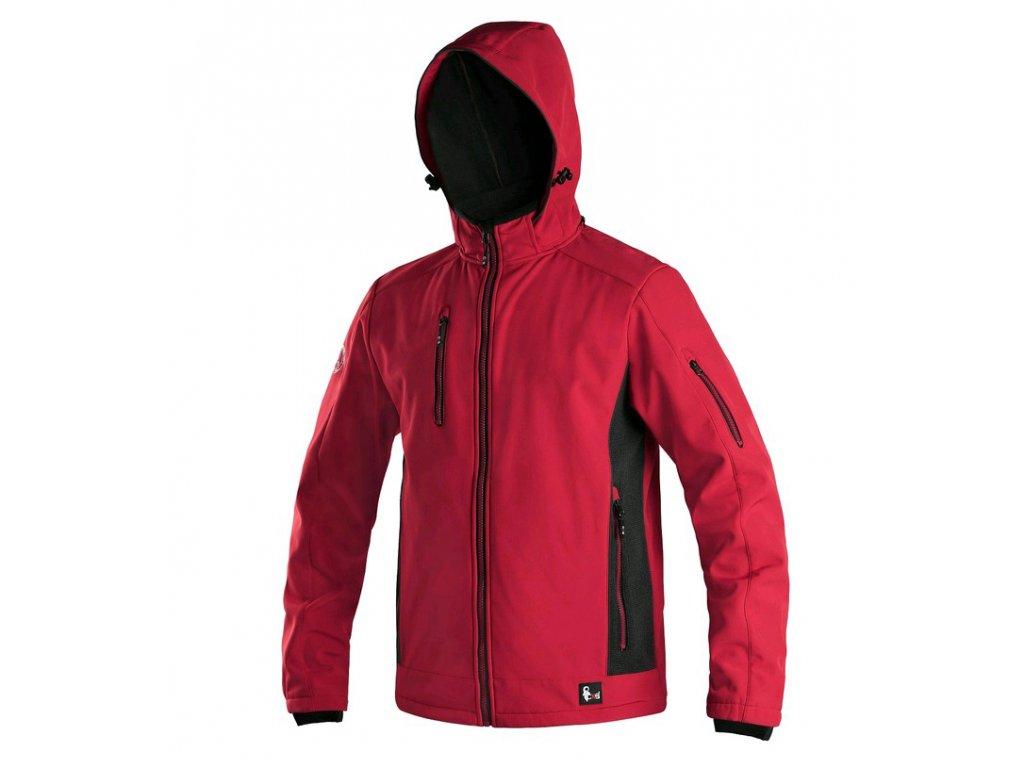 Pánská softshellová bunda CXS Durham -  červená/černá