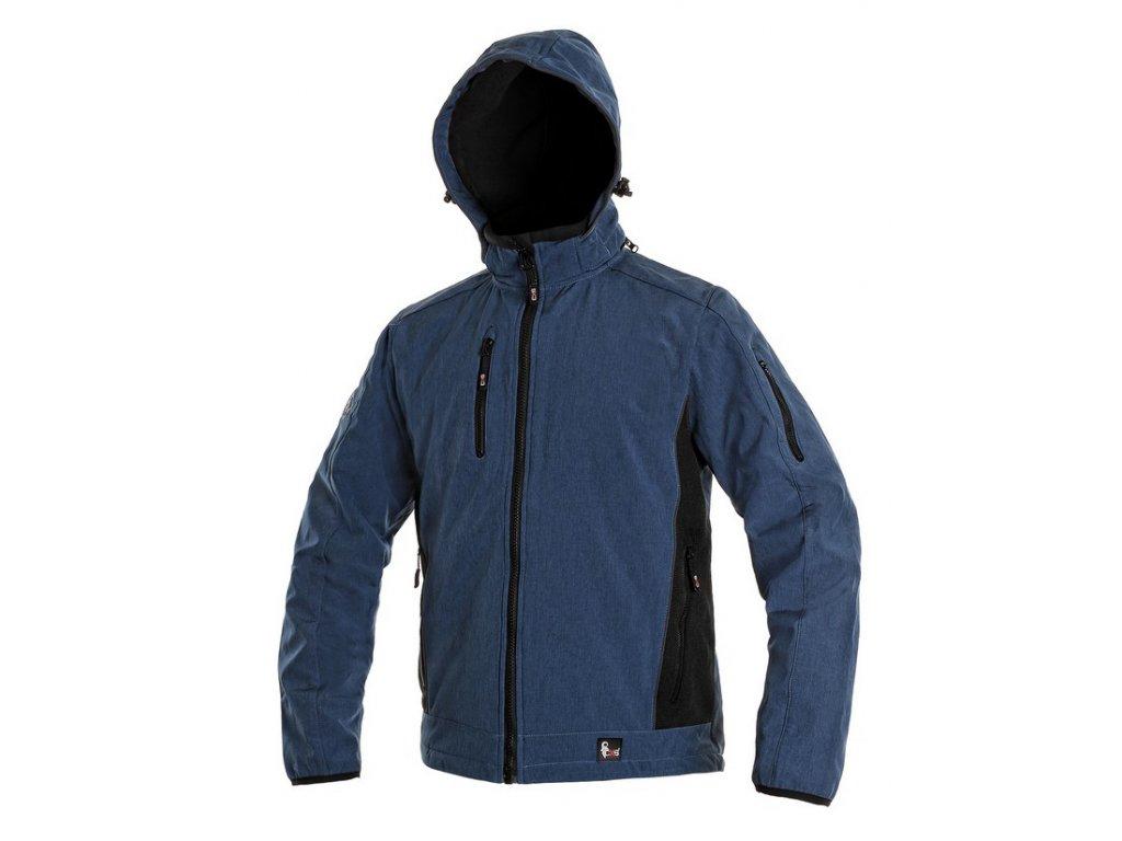 Pánská softshellová bunda CXS Durham - modrá/černá