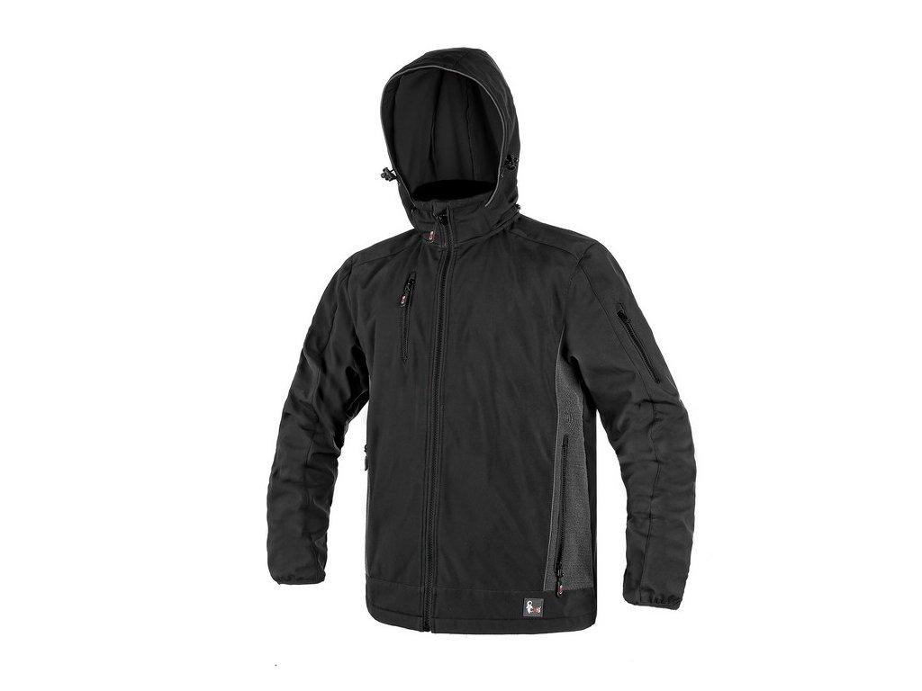 Pánská softshellová bunda CXS Durham - černá