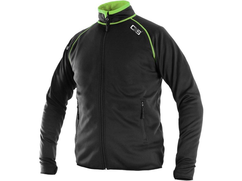 Pánská mikina CXS Toronto - černá/zelená