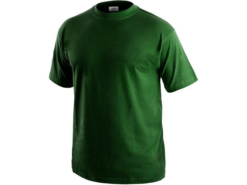 Tričko CXS Daniel - lahvově zelená