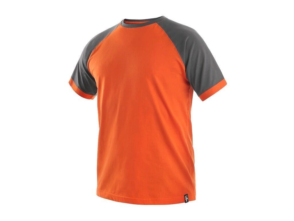 Tričko CXS Oliver - oranžová/šedá
