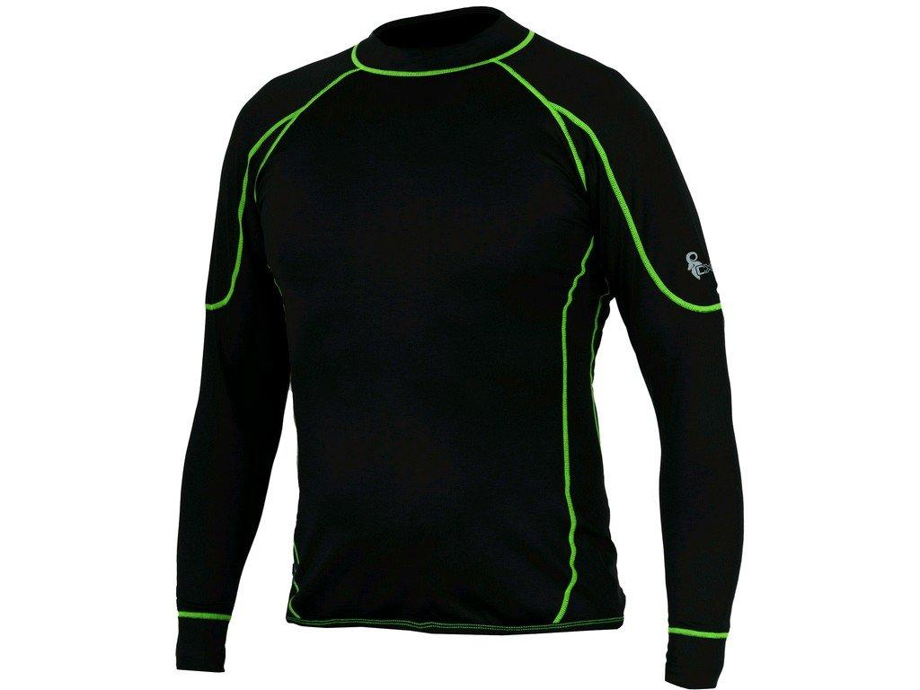 Pánské funkční tričko CXS Reward - černá/zelená