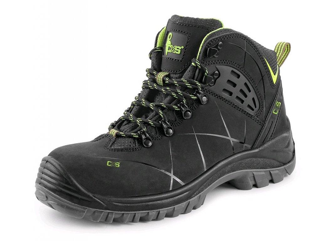 Bezpečnostní obuv CXS Universe Meteor S3  černá/zelená