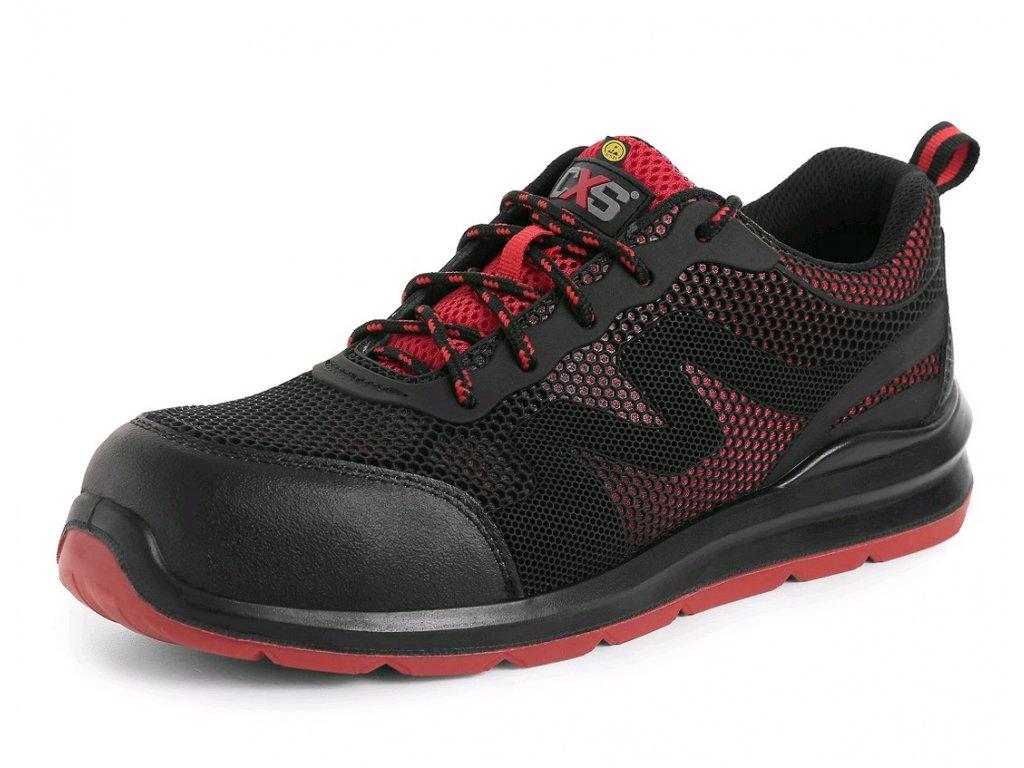 Pracovní obuv CXS Island Syros O1 ESD černá/červená