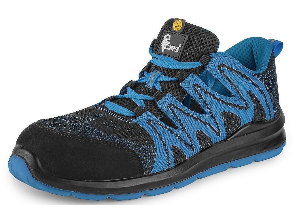 Bezpečnostní obuv CXS Texline Molat S1P ESD černá/modrá