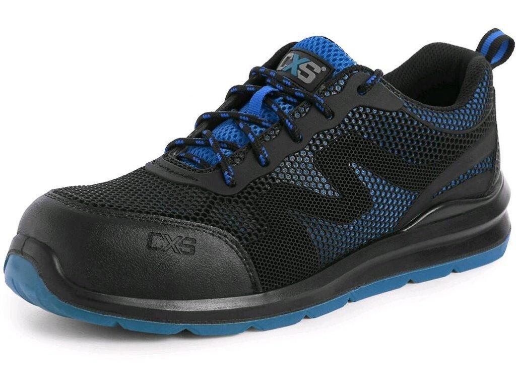 Bezpečnostní obuv CXS Island Milos S1P černá/modrá