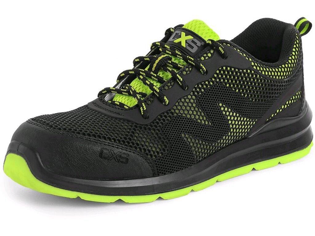 Bezpečnostní obuv CXS Island Tinos S1P černá/zelená