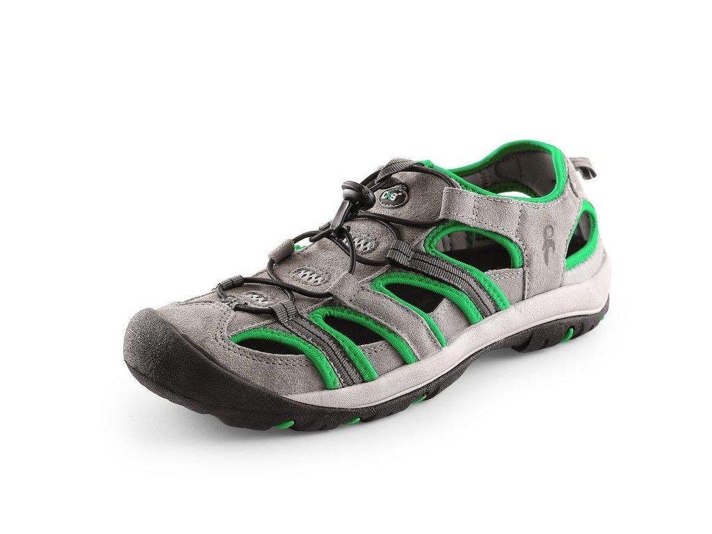 Sandále CXS Sahara šedá/zelená