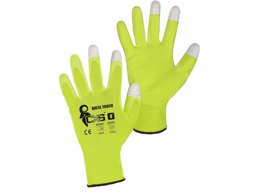 Pracovní potvrstvené rukavice CXS Brita Touch