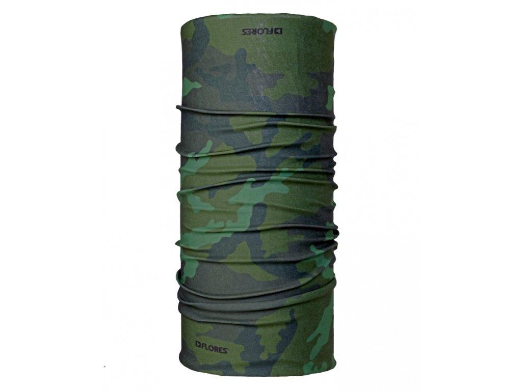 Multifunkční šátek FLORES Tube Army