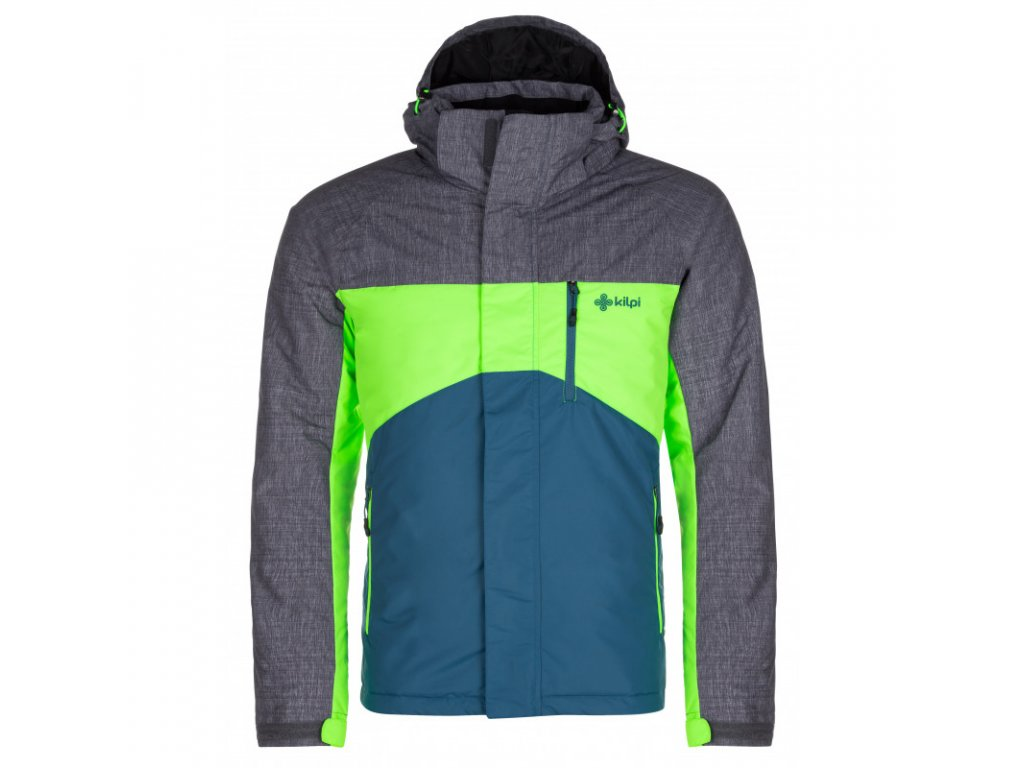 Pánská lyžařská bunda kILPI Ober-M tyrkysová/sv. zelená