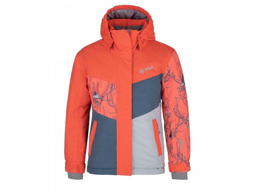 Dívčí lyžařská bunda KILPI Mils-JG korálová