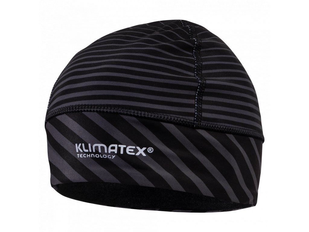 Běžecká čepice KLIMATEX Machar - černá